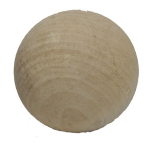 Wooden Swedish stickhandling ball
